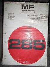 Massey Ferguson tracteur 285 : catalogue de pièces 1978