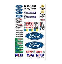 Ford Logo Autoaufkleber Sponsoren Marken Aufkleber Decals Tuning Sticker Set