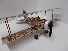 Aluminum soda can handcrafted airplane/MUG ROOT BEER/BI-PLANE