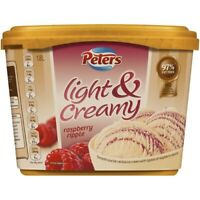 Peters Light & Creamy Raspberry Ripple Fat Free Ice Cream Tub 1.8L