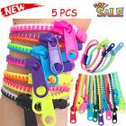 5*Sensory Zipper Fidget Bracelet Zip Stim Toys Stress Anxiety Relief Autism ADHD