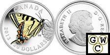 2013 Proof $20 Silver 'Tiger Swallowtail' Colorized Silver Coin .9999 (13207)