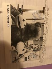 More details for rainbow hand signed post card size photo. thames tv. collectors item