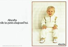Publicité Advertising 037    vetements bébé enfants Absorba  (2p)