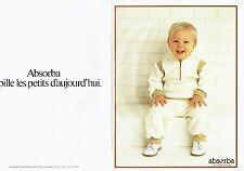 Publicité Advertising 037    vetements bébé enfants Absorba  (2p)