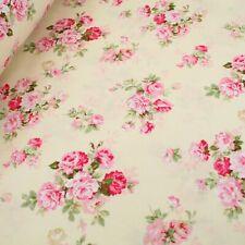 "Pink Floral  Dress Craft Material 100% cotton fabric 63"" super width"