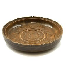 Vintage Large Decorative Wooden Bowl