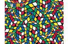 New! Super 3D Puzzle Rubiks Cube Geeked 500 piece jigsaw puzzle