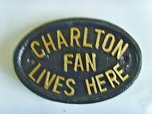 CHARLTON ATHLETIC  ADDICKS FAN FOOTBALL PLAQUE SIGN