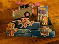 Skye Flip and Fly Transforming Vehicle w/ launcher & figure Paw Patrol Free Ship