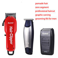 Kemei Rechargeable Hair Clippers Men Electric Cordless Beard Trimmer Haircut Kit