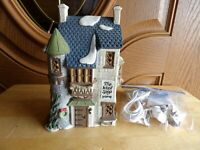 """Dept 56 Dicken's Village 1988 The Wool Shop with light cord great vtg  7 3/4"""""""