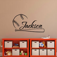 Baseball Sport Wall Sticker Custom Name No Poster Fan Gift Wallpapers Kids Room