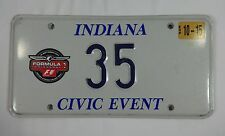 2003 Formula-1 United States Grand Prix Pace Car License Plate