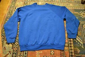Vintage Tultex Royal Blue Blank Sweatshirt Crewneck Pullover Mens XL