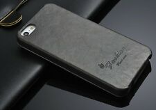 iPhone 5s Farbe Grau  Leder Schutzhülle Luxus Tasche Klapp Etui Flip Case Cover