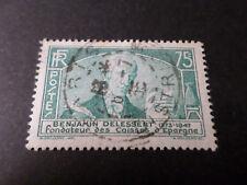 FRANCE 1935 timbre 303, BENJAMIN DELESSERT, CELEBRITE', oblitéré, VF used STAMP