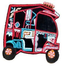 IRON ON, HEAT TRANSFER Patch Indian Tuk Tuk, Rikshaw for shirts, jumpers
