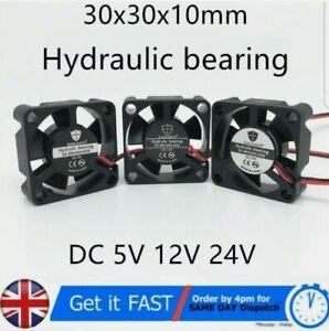 30x30x10mm 3010 5V, 12V, 24V Hydraulic Bearing Brushless DC 2 Pin Cooling Fan