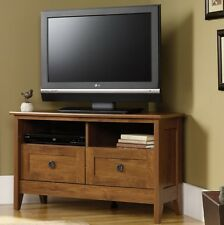Corner TV Stands For Flat Screens Storage Cabinet Media Console Wood Stand NEW