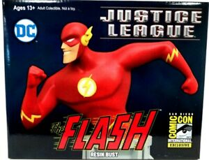 2017 SDCC  Animated Series Flash Previews Exclusive Resin Bust  New - Sealed