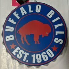 "Buffalo Bills RETRO Bottle Cap Sign - Est 1960 - Room Bar Decor NEW 13.5"""