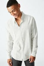 Cotton On Mens Textured Long Sleeve Shirt Shirts  In  Multicoloured