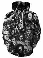 Mens/Womens Horror Movie 3D Print Casual Sweatshirt Hoodies Pullover Hoody