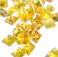 NATURAL TOP AAA! GOLDEN YELLOW SAPPHIRE LOOSE GEMSTONE (5 pieces) PRINCESS CUT