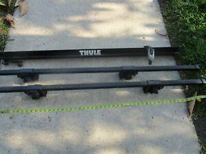 Thule 1054 Roof Racks Mounts & 50 inch cross bars & Bicycle Carrier Wheel Tray
