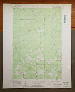"McCarthy Creek, Minnesota Original Vintage 1954 USGS Topo Map 27"" x 22"""