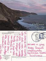 1992 THE COAST AT SUNSET CALIFORNIA UNITED STATES COLOUR POSTCARD