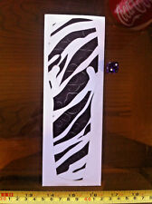 Sky Remote Control Sticker Cover Zebra Animal Stripe Black White Pelt  Motif
