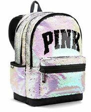 76eb5ab382 Victoria s Secret PINK Reversible Sequin Bling Campus Backpack Bag Full  Size NWT