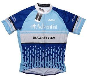 LOUIS GARNEAU Men's Cycling Equipe Jersey Adventist Health Florida Blue XL ~ New