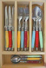 LAGUIOLE by Louis Thiers 24 Piece Cutlery Set - Multi Colour Linéaire - RRP $349