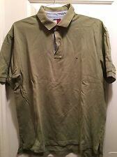 Tommy Hilfiger Mens Light Green Freedom Logo Polo Shirt - Size L