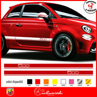 FASCE ADESIVE FIAT 500 ABARTH adesivi fasce LATERALI strisce per auto OMAGGIO!!!