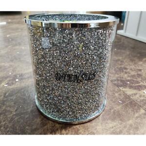 XXL Sparkly Crushed Diamond Crystal Filled Utensil Holder, Kitchen Bling Gift