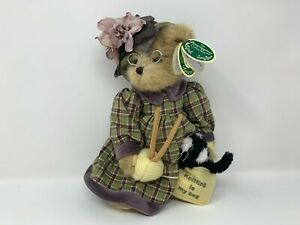 """The Bearington Collection Mrs. Knitter and Pearl 14"""" Jointed Bear NOS#3"""