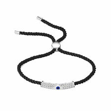 Corded Evil Eye Friendship Bracelet with Crystals from Swarovski®