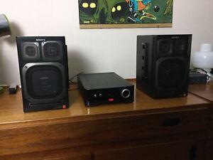EXCELLENT HI-FI SPEAKERS SONY APM-215 VINTAGE BOOMBOX FH-209/207/15R+ Retro