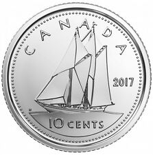 CANADA 2017 New 10 cents NO Circulation ORIGINAL BLUE NOSE (BU From set roll)