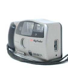 Minolta AF Big Finder 35mm Compact Film Camera w/ Flash, Working Clean VTG BF