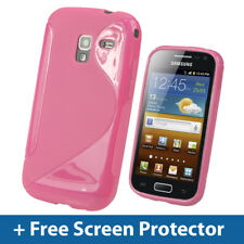 Pink Dual Tone TPU Gel Case for Samsung Galaxy Ace 2 I8160 Android Cover Skin