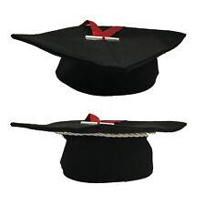 FÊTE DE REMISE DE DIPLÔMES chapeau toucher 25x25cm in feutre noir+ ruban+mini
