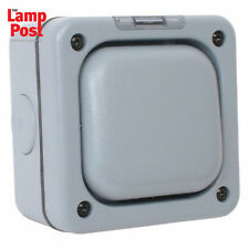 MK Masterseal K56401 1 Gang 2 Way 10A Outdoor Switch Weather Proof - Grey