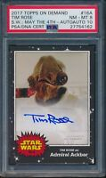 2017 Topps On Demand Tim Rose Star Wars May 4th Auto Card 16A PSA 8 Auto 10