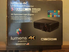 Lumens 4k projector with Digital Projector Self Lock Screen and 3d Glasses