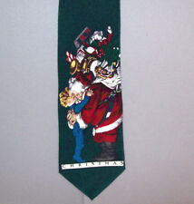 "Saturday Evening Post SANTA HUGS CHILD 58"" Holiday Neck Tie made in Canada #737"